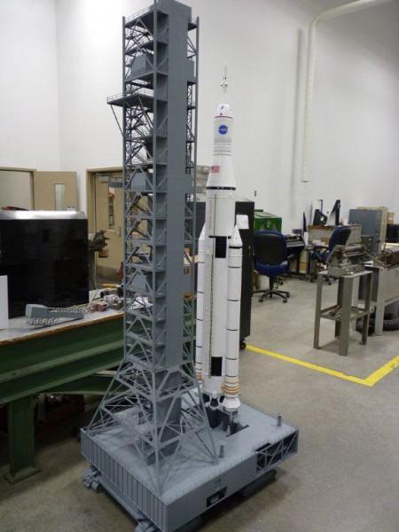 rocket launch pad scale model